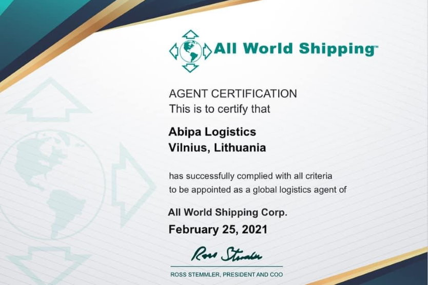 "ABIPA Logistics became a member of the largest agency group in the world ""All World Shipping""!"